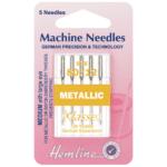Sewing Machine Needles: Metallic 80/12: 5 Pieces