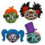 Dress It Up Buttons: Zany Zombies