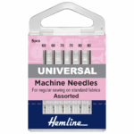 Sewing Machine Needles: Universal: Light Assortment: 6 Pieces