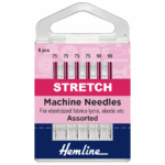 Sewing Machine Needles: Stretch: Mixed, 6 pieces