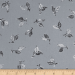 Michael Miller Our Yard Lime Tree Leaves Cloud Fabric