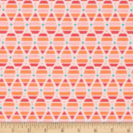 Michael Miller Birds & The Bees's Honey Honey Coral Fabric