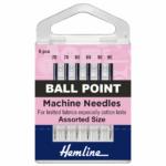 Sewing Machine Needles: Ball Point ( 6 pieces) Regular Assortment