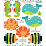 Underwater Friends snuggle pillow panel