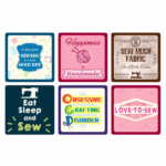 Sewing Themed Coasters