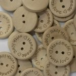 Handmade with Love buttons - 3 sizes