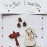 The Bee Company Buttons- Snowman