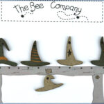 The Bee Company Buttons- Witches Hats
