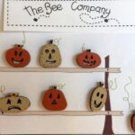 The Bee Company Buttons- Pumpkin Faces