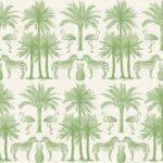 Makower Fern Garden Palm- Green LAST FAT QUARTERS