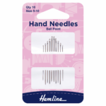 Hand Sewing Needles: Ballpoint: Size 5-10