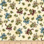 Henry Glass: Away In A Manager- Mistletoe LAST CHANCE- PRE CUT FAT QUARTERS ONLY