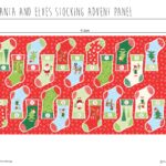 Santa & Elves Stocking Advent Panel