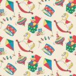 Polycotton: Vintage Toy shop- Cream